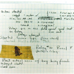 "Hopper's logbook with the moth (""bug"") displayed."