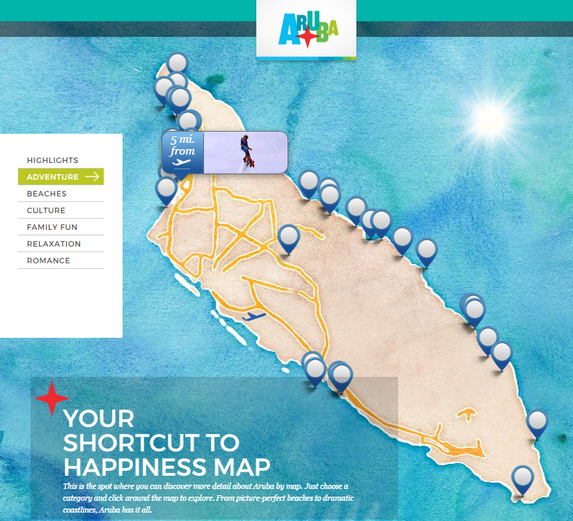 Aruba Happiness Builder - Explore by Map