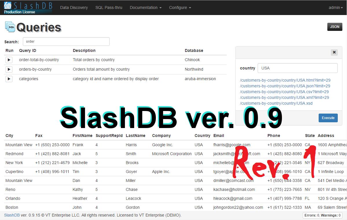 Slashdb 0.9 Rev.1