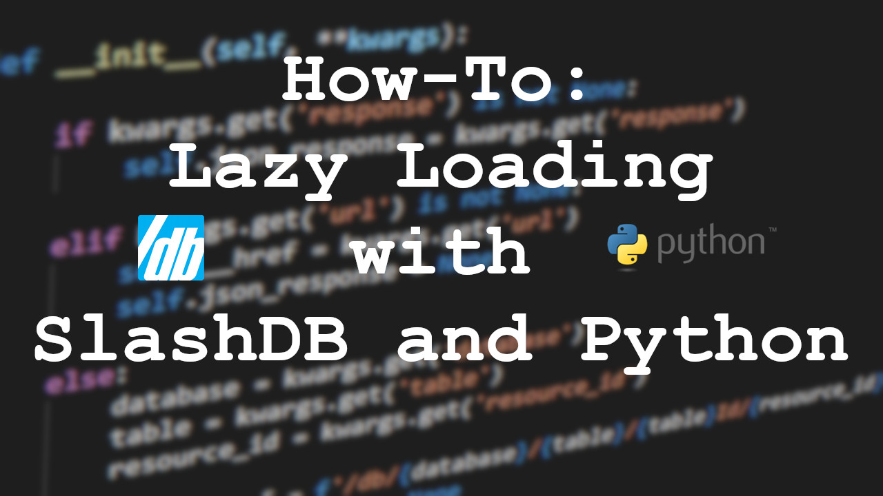 Using API Lazy Loading To Speed Up Client Programs